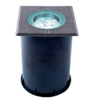 Empotrado de Piso Cuadrado LED Cree 3X1W.