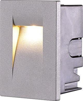 Luminario Aluminio P/empotrar en Muro LED Cree 3W. Blanco