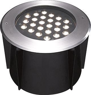 Empotrado P/piso Redondo Power LED Cree 24X1W.