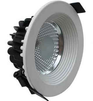 Luminario de Aluminio P/emp. en Techo 5W 4,100°K. Negro