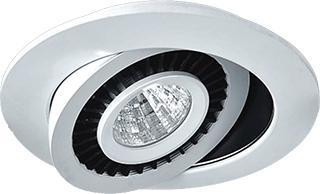 Luminario Dirigible de Alum. P/emp. en Techo 5W 4,100°K.
