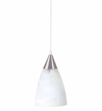 Luminario Susp. Pant. Acido, Marmol Bco., M. CafÉ.