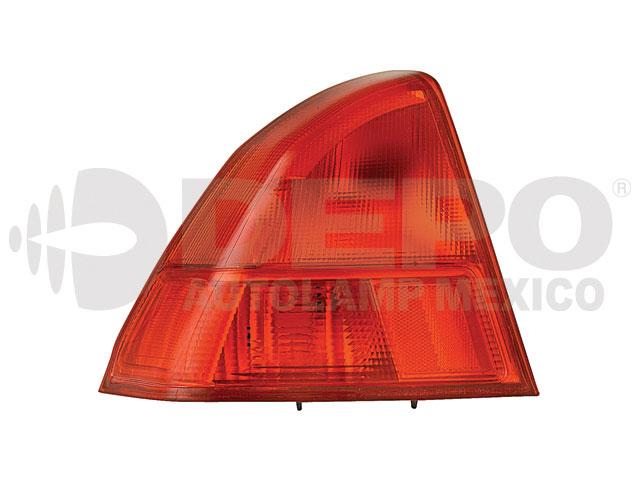 Calavera Honda Civic 01-02 Ext Izq 4p Rojo