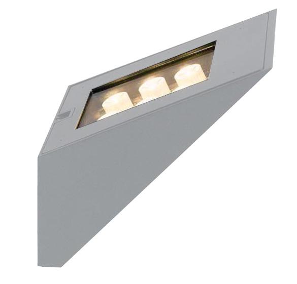 Arbotante RAMP LED CREE, 6W, 3000K, 540Lm, Al Inyectado, cristal templado. IP 54