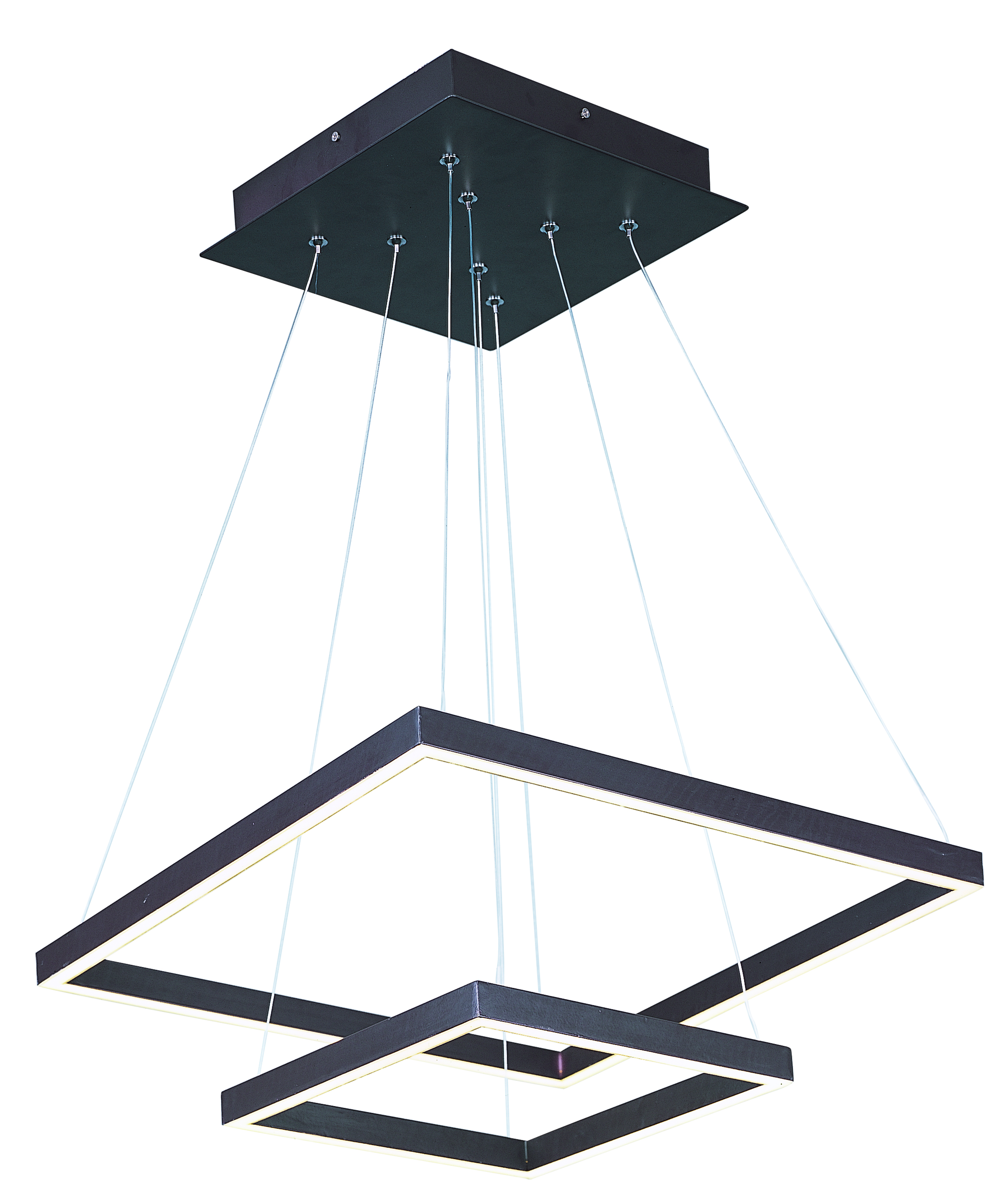 Quad LED 2-Tier Pendant
