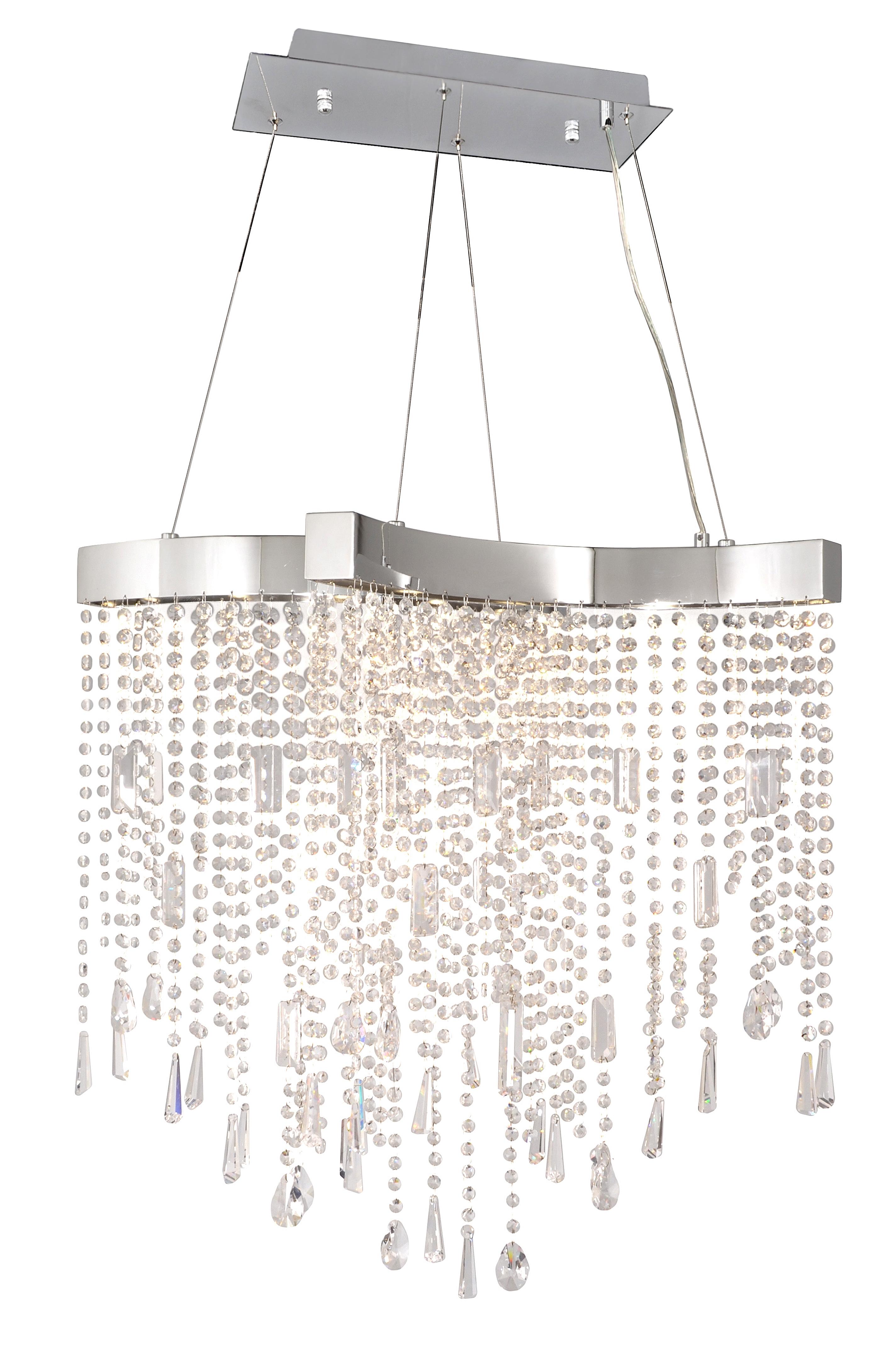 Crystal Sensation LED 10-Light Pendant