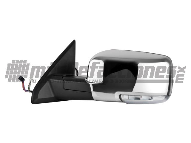 Espejo Dodge Ram 09-13 Izq Electrico C/desempaÑante C/direccional Cromado*
