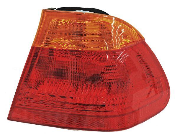 Par de CALAVERA BMW SERIE 3 99-01 ROJO/AMBAR EXT S/ARNES TYC ****