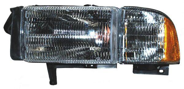 FARO DODGE PU 94-02 RAM C/BASE C/CUARTO ALD TYC IZQ