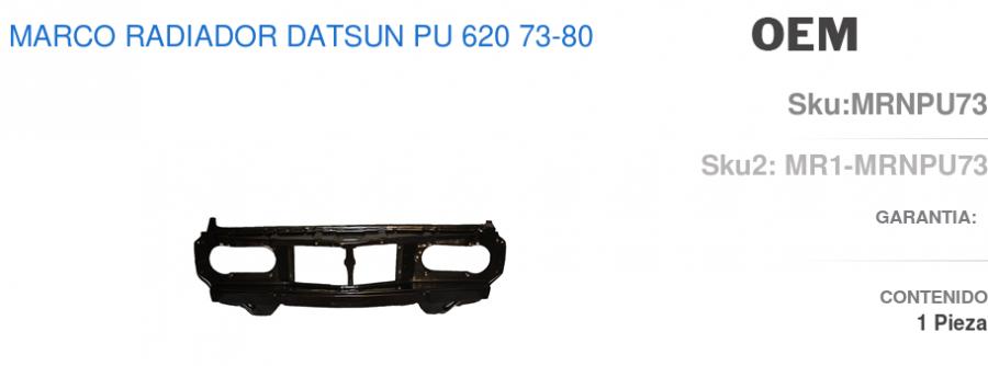 marco radiador nissan datsun 620 pick up 2000